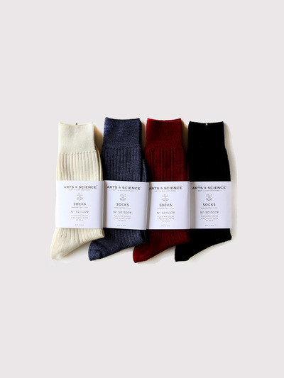 Plain rib socks 1
