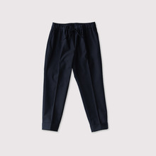 Draw string easy tapered pants~cotton