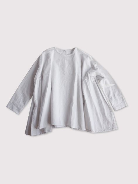 Side gather tentline blouse~cottonlinen 2