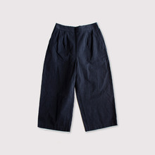Wide cropped pants~cotton