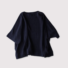 Shoulder button short poncho~cotton linen ramie