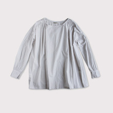 Sholder gather blouse~cotton