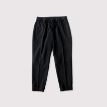 Draw string easy tapered pants~wool