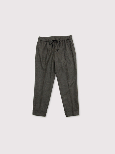 Draw string easy tapered pants~wool mixgray 1