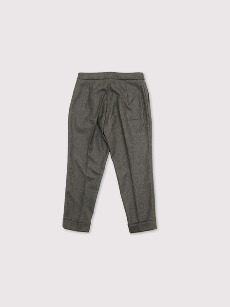 Draw string easy tapered pants~wool mixgray 2