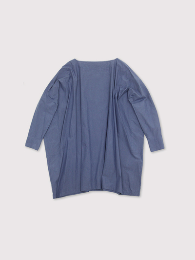 Boat neck big shirt tunic~cotton 1