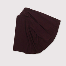 Side gather tent line blouse~wool