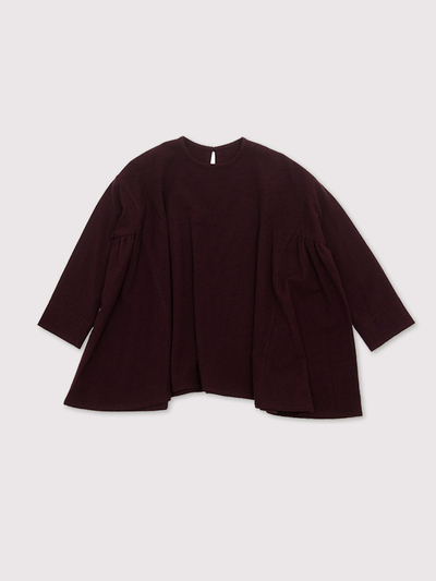 Side gather tent line blouse~wool 2