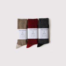 Combi color socks~wool nylon