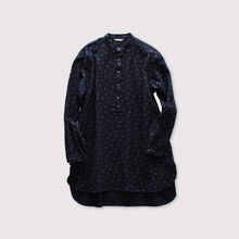Middle night shirt~kasuri snow dot manganese cloth