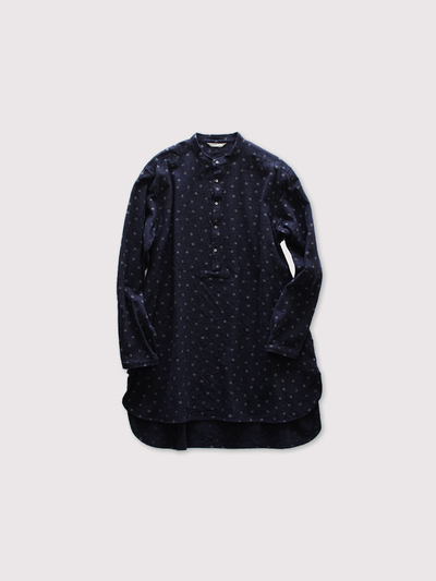 "Middle night shirt~kasuri snow dot manganese cloth"" 1"