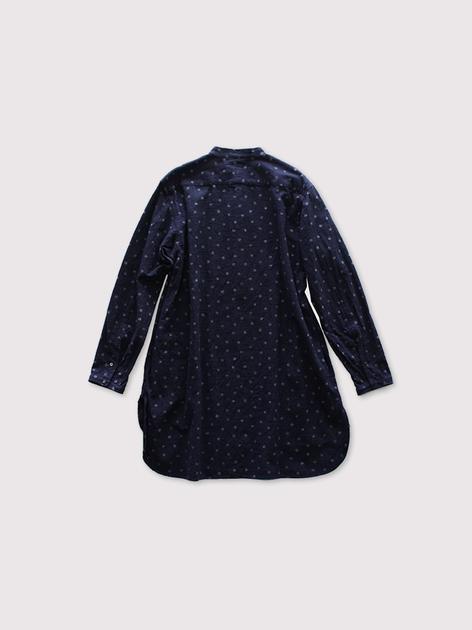 """Middle night shirt~kasuri snow dot manganese cloth"""" 2"""