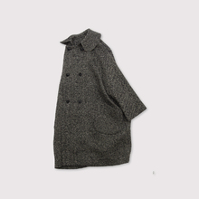 Small collar narrow balloon coat~cashmere
