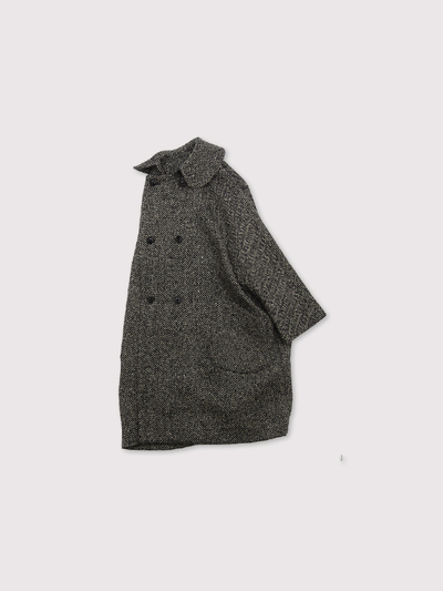 Small collar narrow balloon coat~cashmere 1