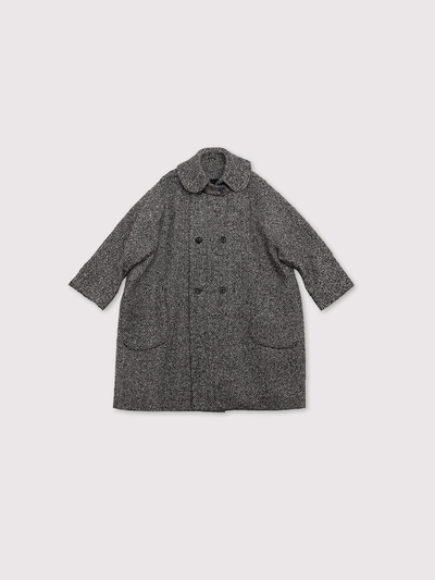 Small collar narrow balloon coat~cashmere 2