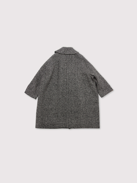 Small collar narrow balloon coat~cashmere 3
