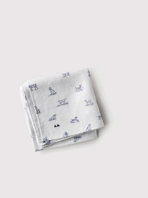 Bandana~dogs cotton linen ox 4