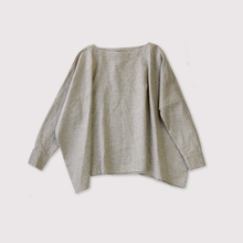 Boat neck big shirt~linen cashmere