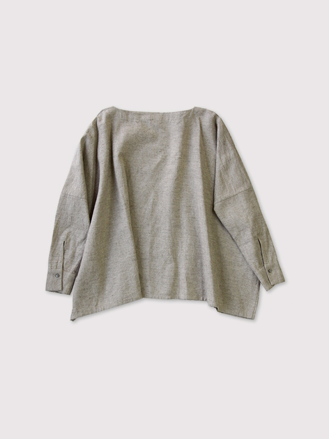 Boat neck big shirt~linen cashmere 2