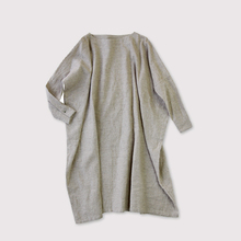 Boat neck long dress~linen cashmere
