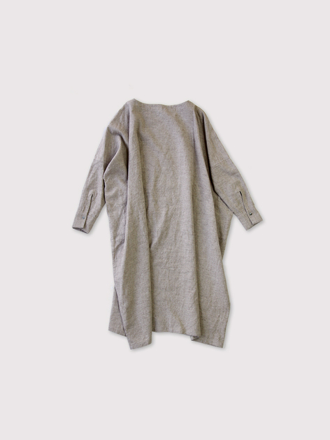 Boat neck long dress~linen cashmere 2