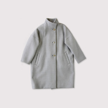 Stand collar coat~wool