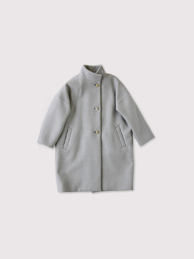 Stand collar coat~wool 1