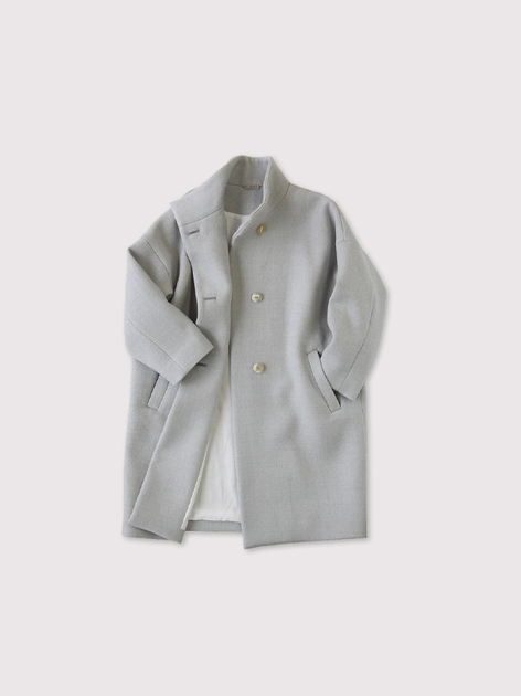 Stand collar coat~wool 2