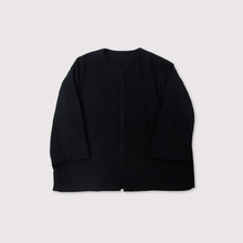 Boxy no collar jacket~double scratch wool