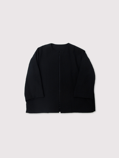 Boxy no collar jacket~double scratch wool 1