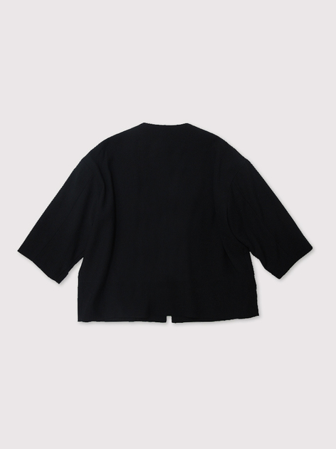 Boxy no collar jacket~double scratch wool 2