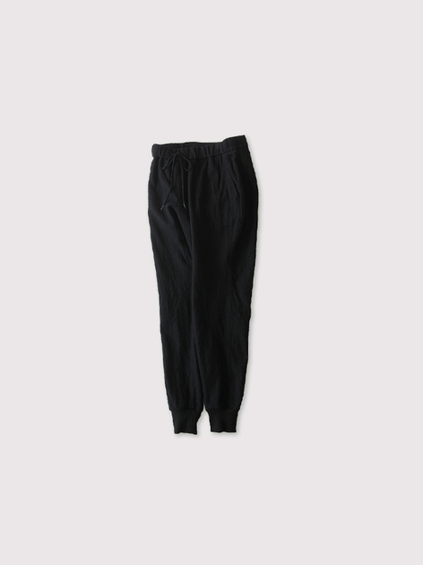 Draw string  easy tapered long pants~wool 2