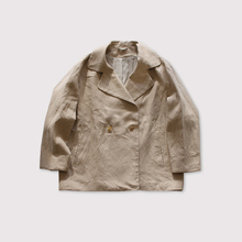 Driving jacket~linen vintage hard