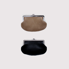 Mini gamaguchi purse~cow leather