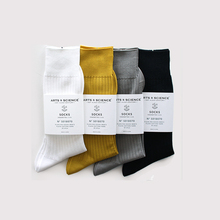 Plain rib socks(men's)