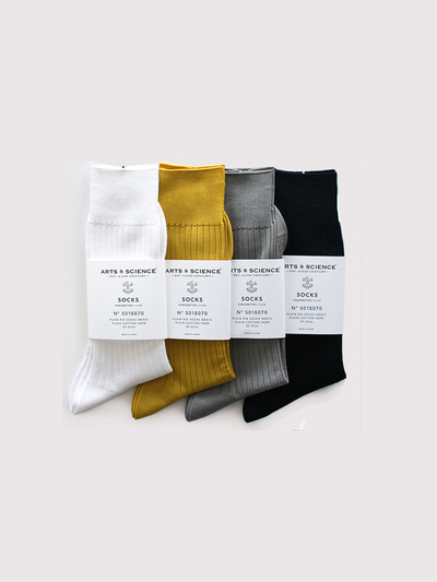 Plain rib socks(men's) 1
