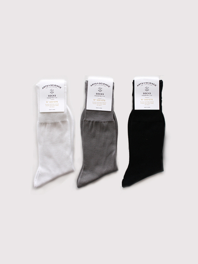 Plain cotton socks 1