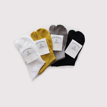 Plain cotton tabi socks