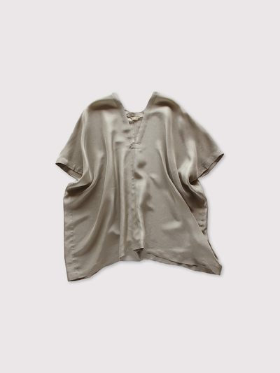 Back long blouse~silk 1