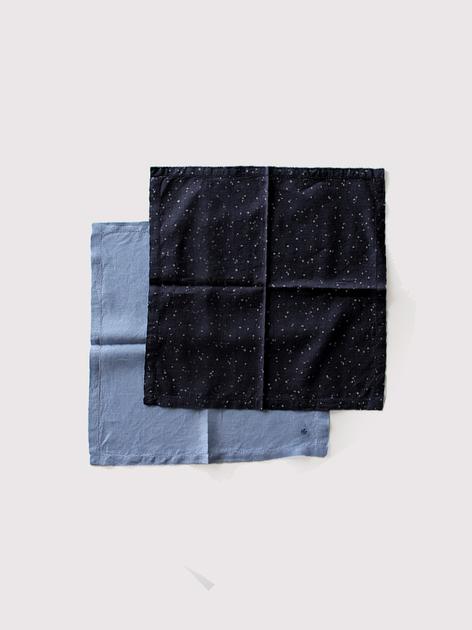 Picot handkerchief~kasuri rain dots/ fade colour linen 3
