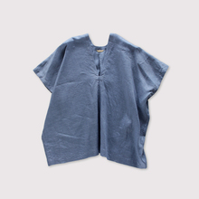 Back long blouse~fade colour linen