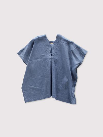 Back long blouse~fade colour linen 1