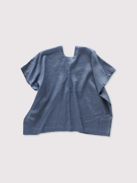 Back long blouse~fade colour linen 2