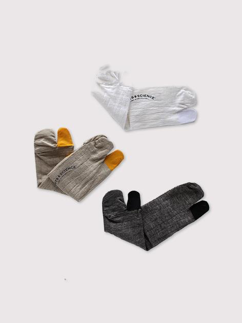 Combi tabi socks short men's~linen 2