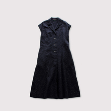Open collar french dress~kasuri rain dots