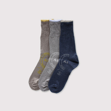 Print rib socks~linen【SOLD】