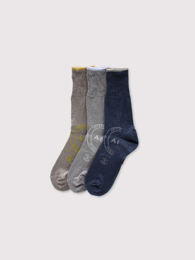 Print rib socks~linen【SOLD】 1