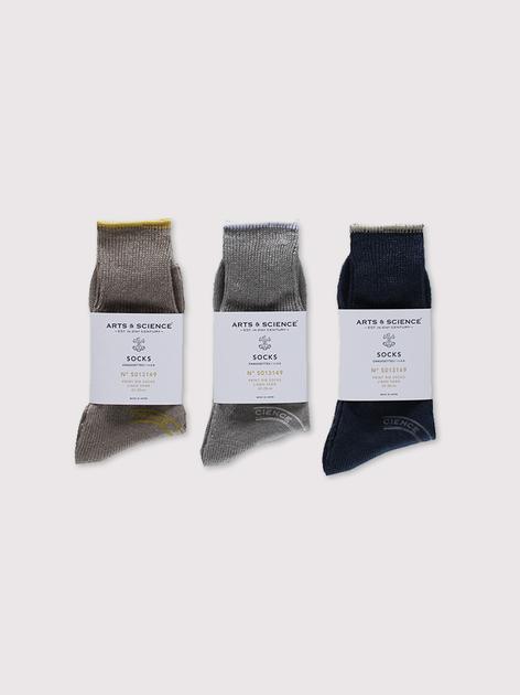 Print rib socks~linen【SOLD】 2
