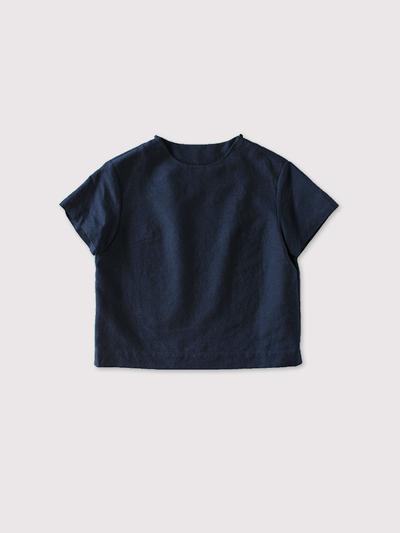 Shoulder button mini blouse~cotton ramie 1