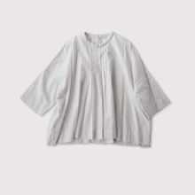 Tuck front big slip on blouse~cotton